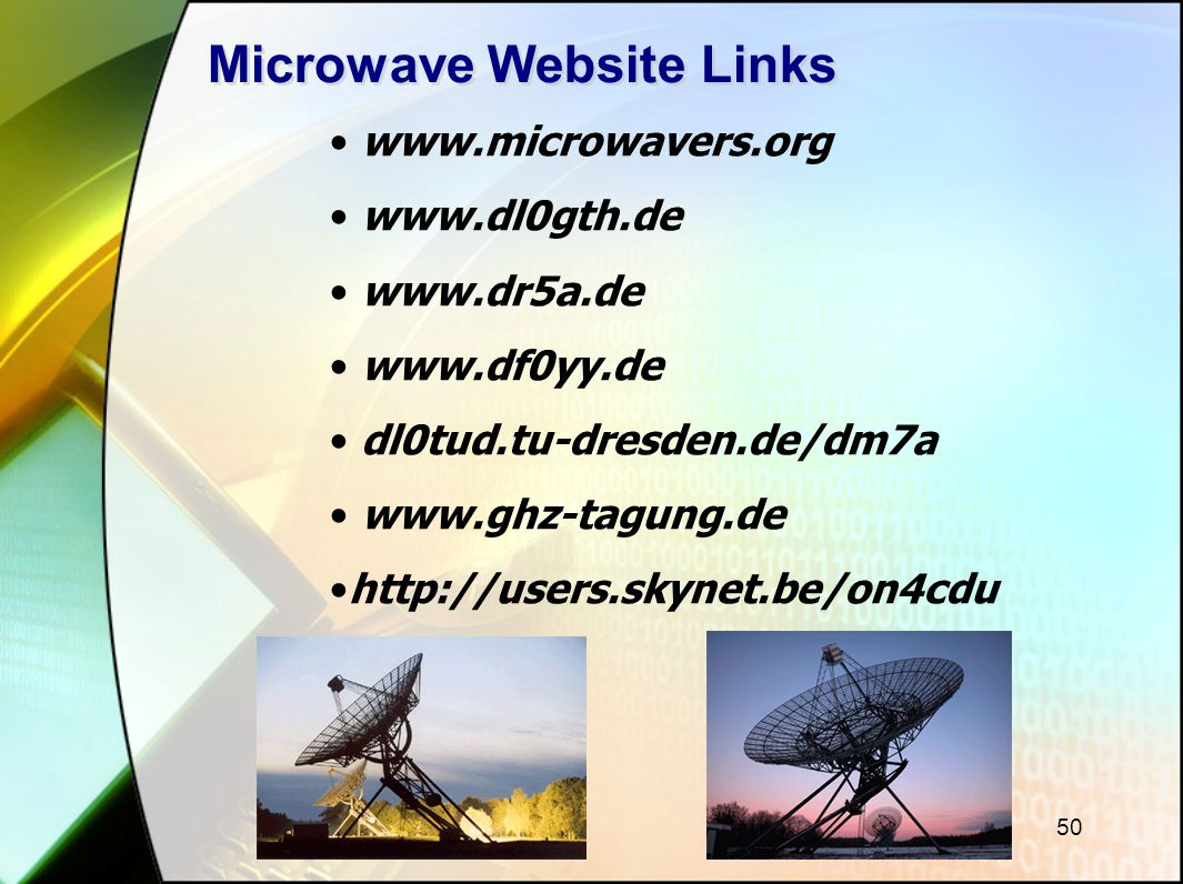 Microwave Website Links
