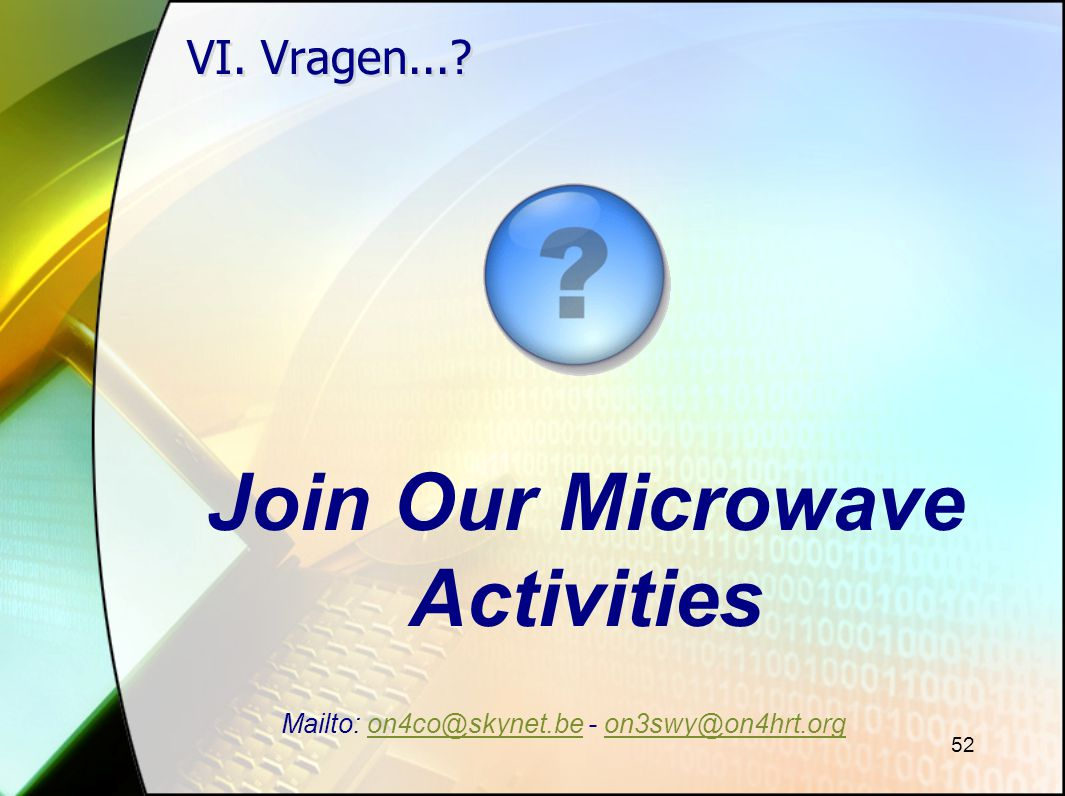 Join Our Microwave Activities