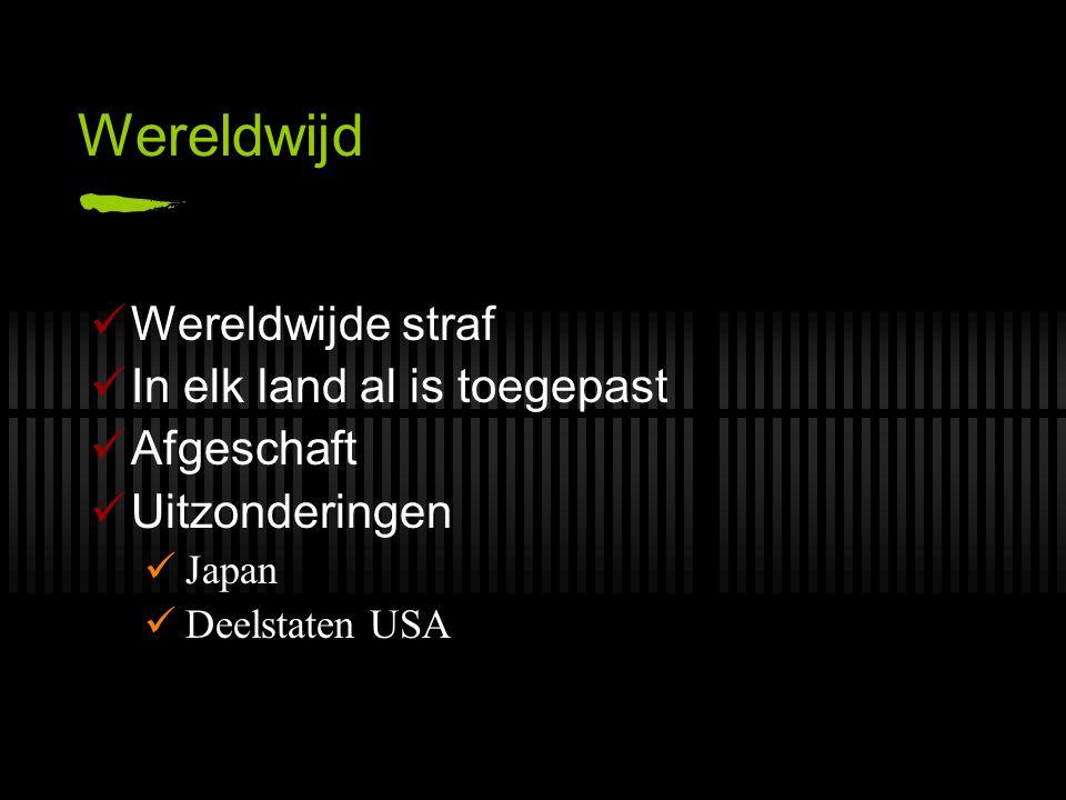 Wereldwijd Wereldwijde straf In elk land al is toegepast Afgeschaft