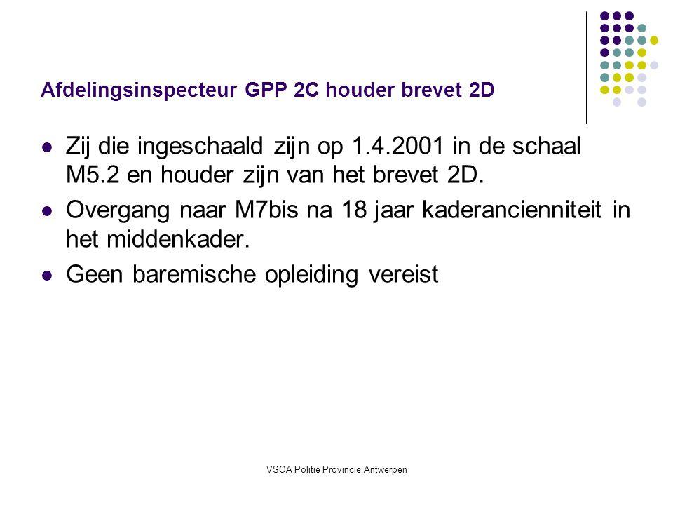 Afdelingsinspecteur GPP 2C houder brevet 2D
