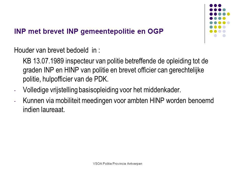 INP met brevet INP gemeentepolitie en OGP