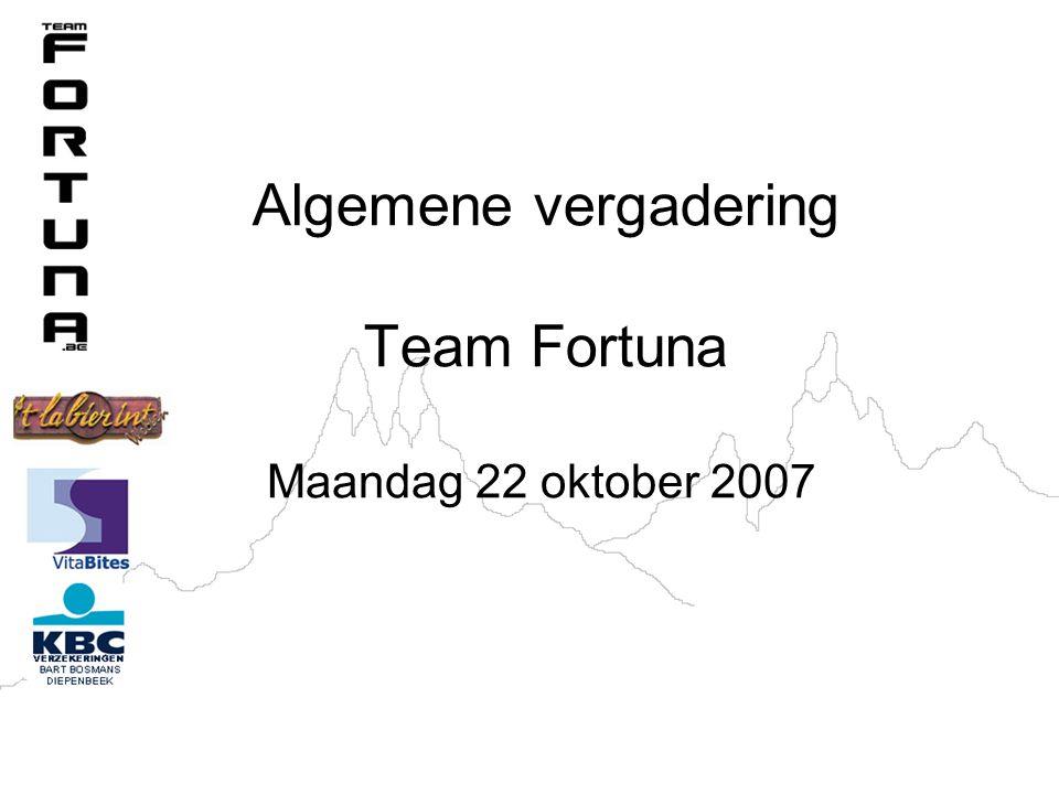 Algemene vergadering Team Fortuna