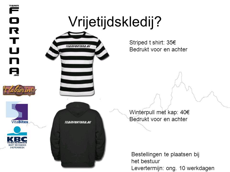 Vrijetijdskledij Striped t shirt: 35€ Bedrukt voor en achter