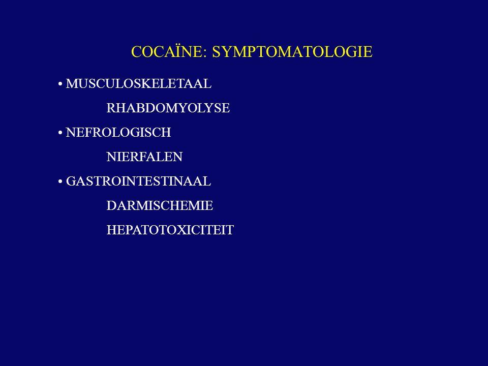 COCAÏNE: SYMPTOMATOLOGIE