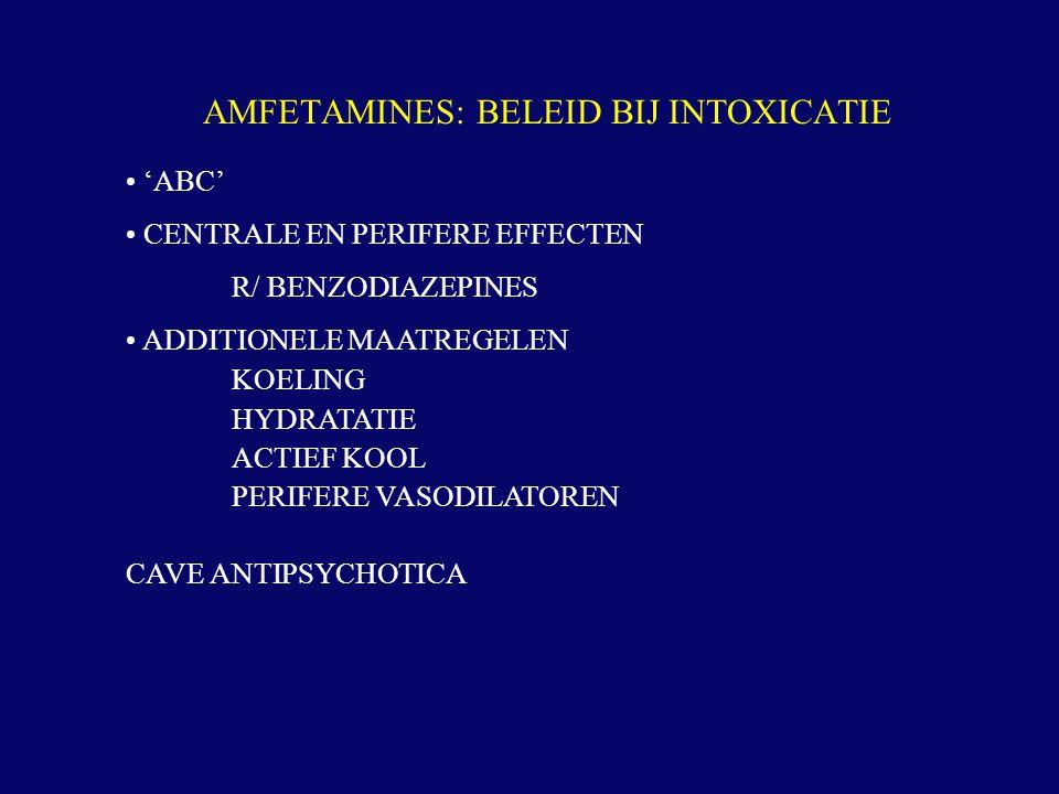 AMFETAMINES: BELEID BIJ INTOXICATIE