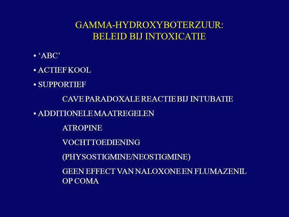 GAMMA-HYDROXYBOTERZUUR: BELEID BIJ INTOXICATIE