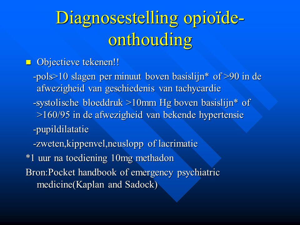 Diagnosestelling opioïde-onthouding