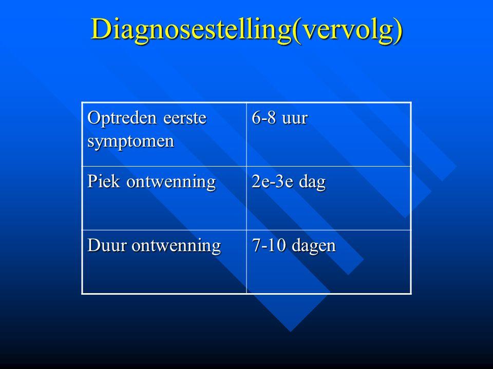 Diagnosestelling(vervolg)
