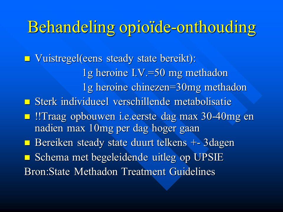 Behandeling opioïde-onthouding