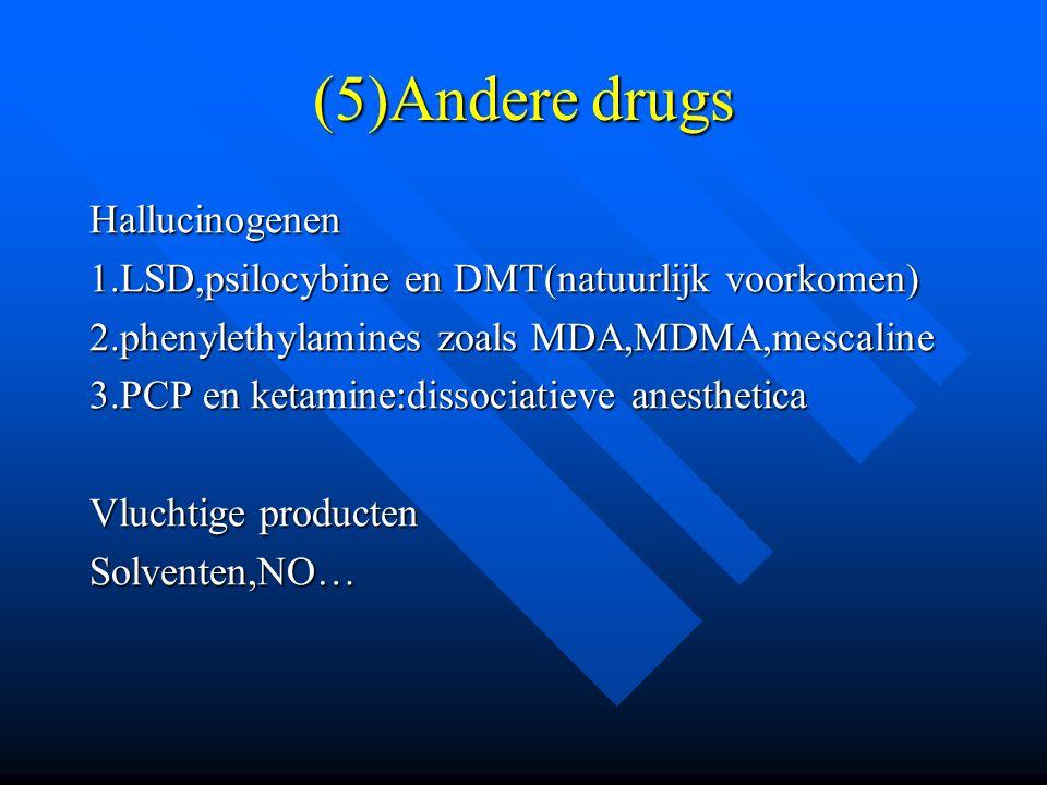 (5)Andere drugs Hallucinogenen