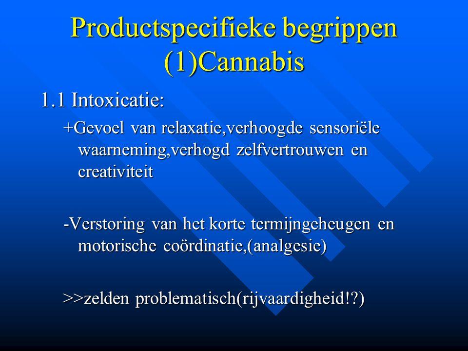 Productspecifieke begrippen (1)Cannabis