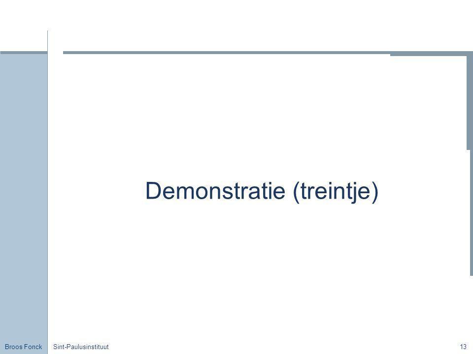 Demonstratie (treintje)