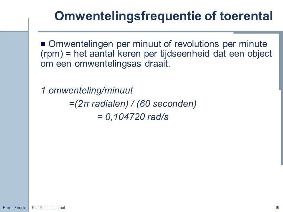 Omwentelingsfrequentie of toerental