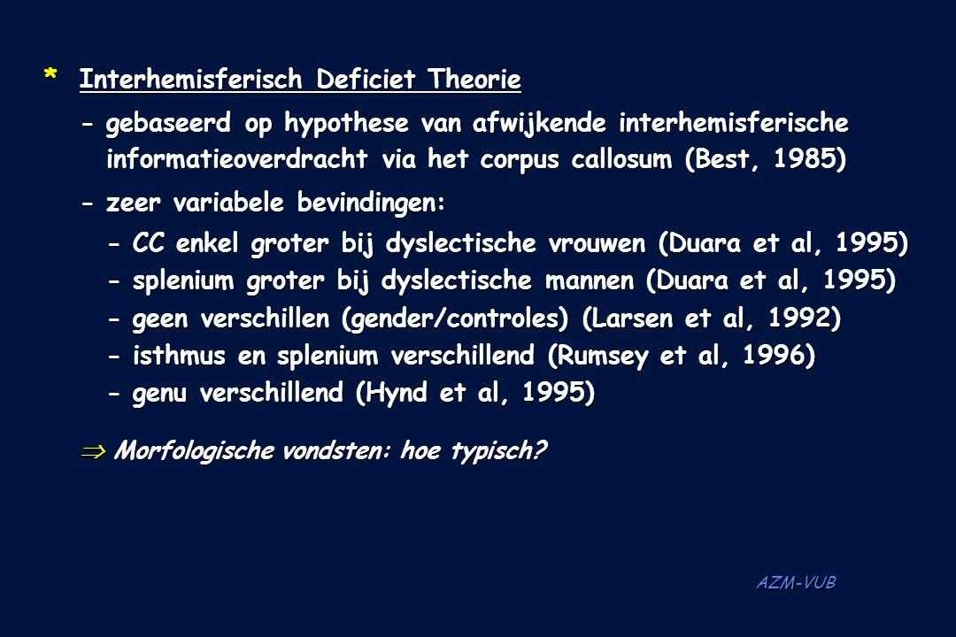 * Interhemisferisch Deficiet Theorie
