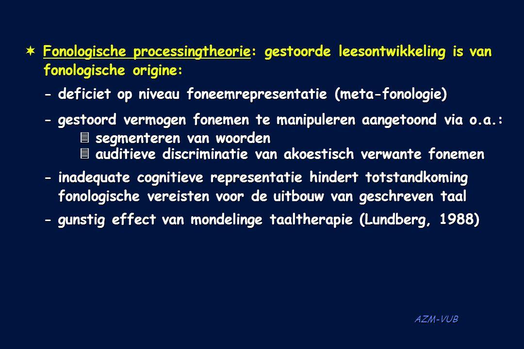 Fonologische processingtheorie: gestoorde leesontwikkeling is van
