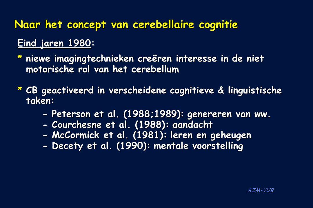 Naar het concept van cerebellaire cognitie