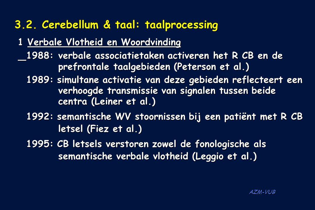 3.2. Cerebellum & taal: taalprocessing