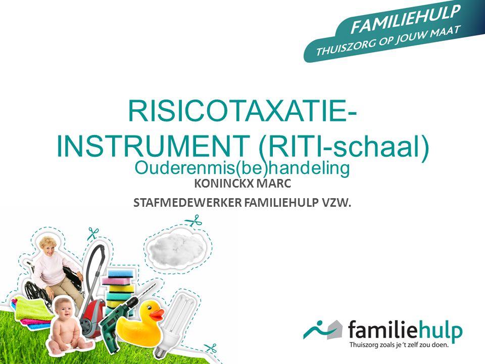 RISICOTAXATIE-INSTRUMENT (RITI-schaal)