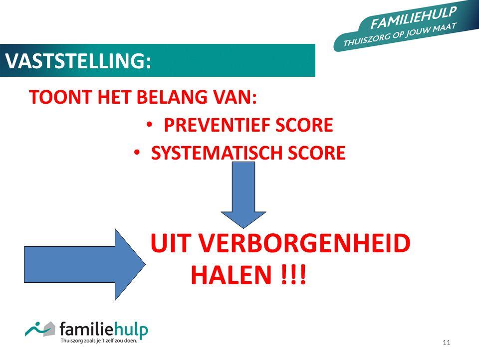 UIT VERBORGENHEID HALEN !!!