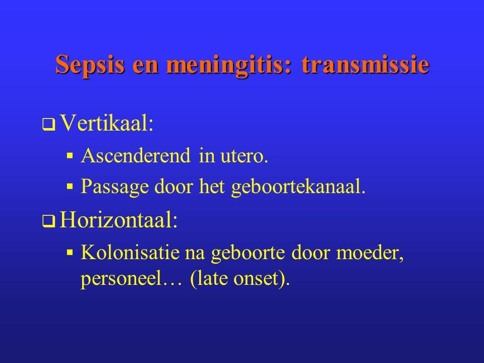 Sepsis en meningitis: transmissie