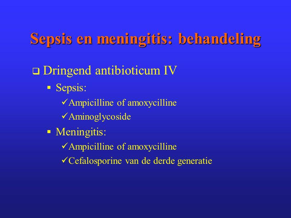 Sepsis en meningitis: behandeling
