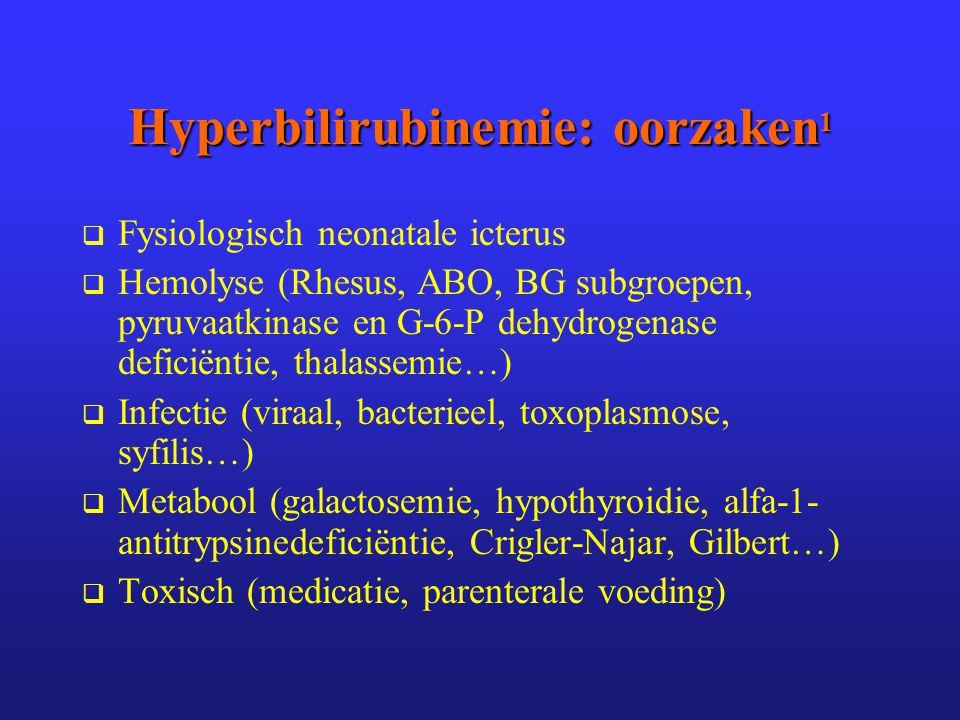 Hyperbilirubinemie: oorzaken1