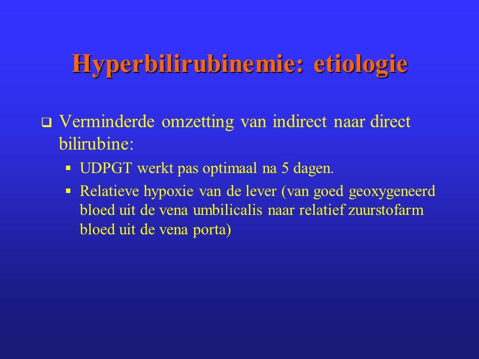 Hyperbilirubinemie: etiologie