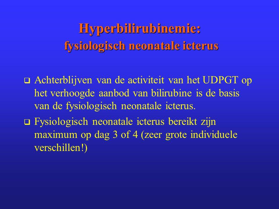 Hyperbilirubinemie: fysiologisch neonatale icterus