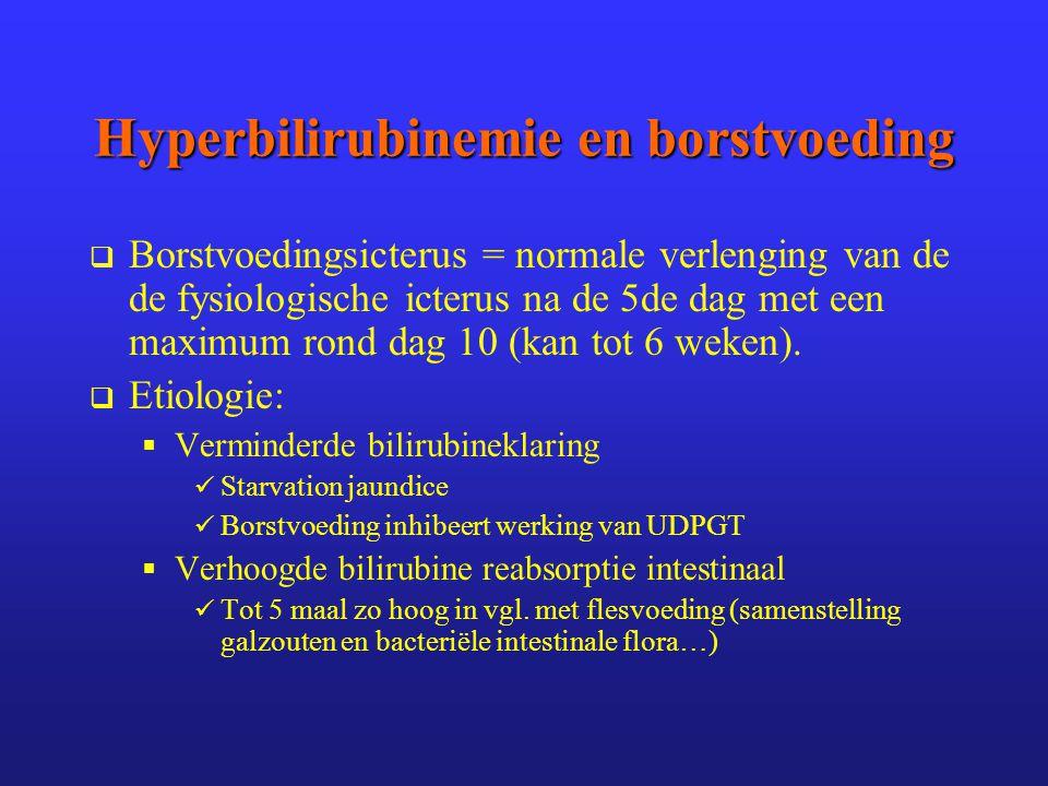 Hyperbilirubinemie en borstvoeding