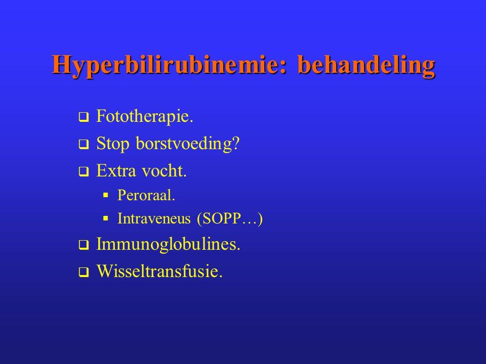 Hyperbilirubinemie: behandeling