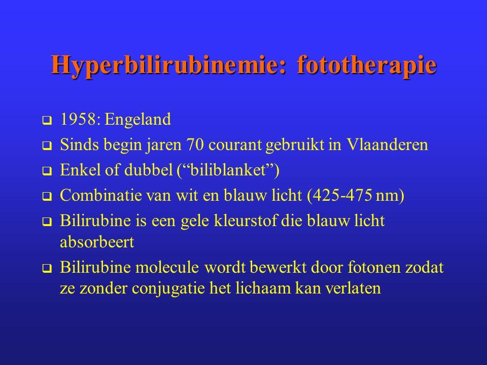 Hyperbilirubinemie: fototherapie