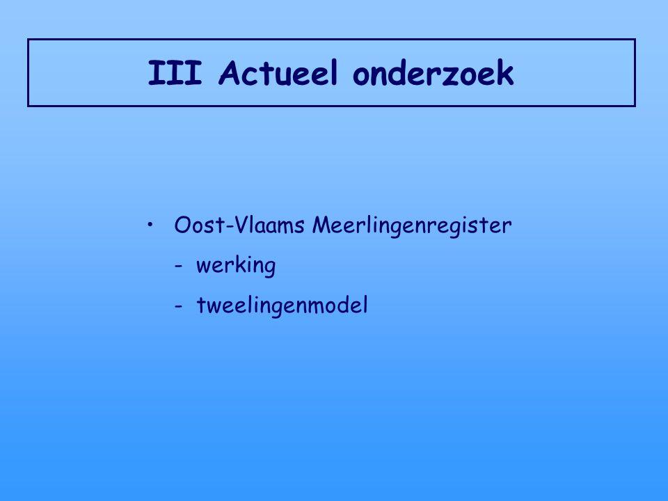 III Actueel onderzoek Oost-Vlaams Meerlingenregister - werking