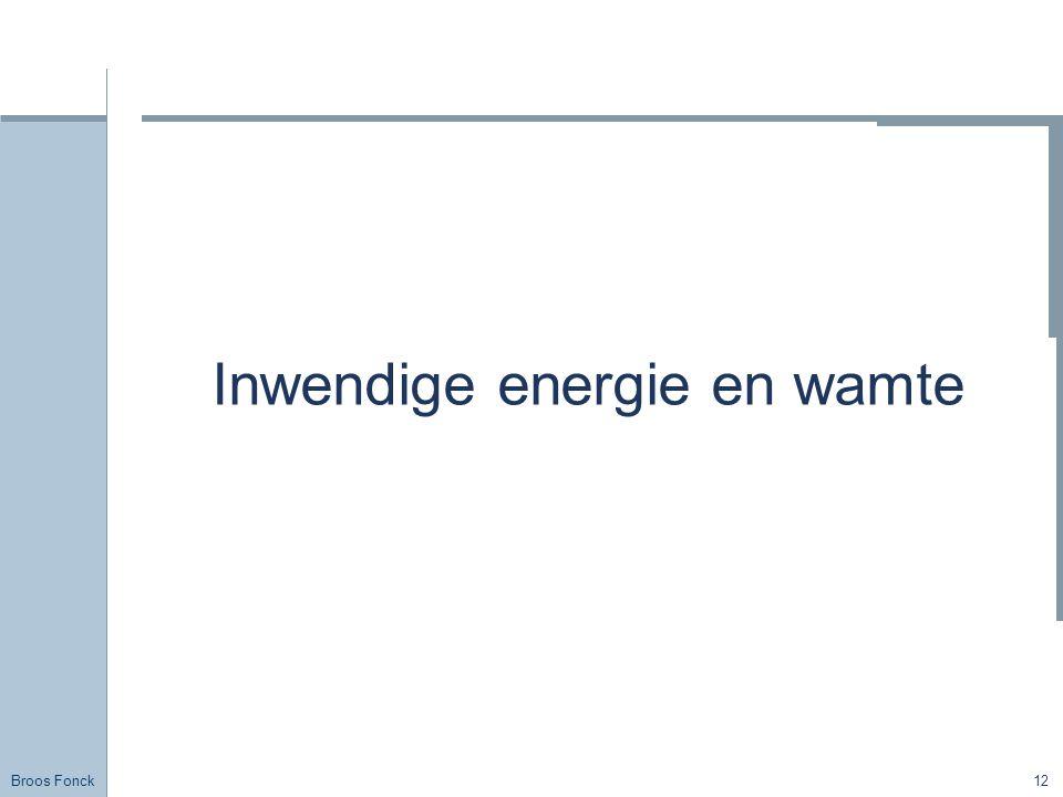 Inwendige energie en wamte