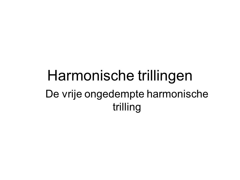 Harmonische trillingen