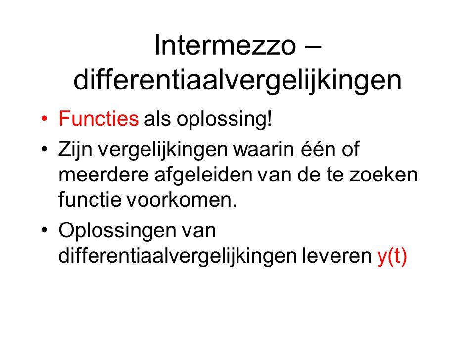 Intermezzo – differentiaalvergelijkingen