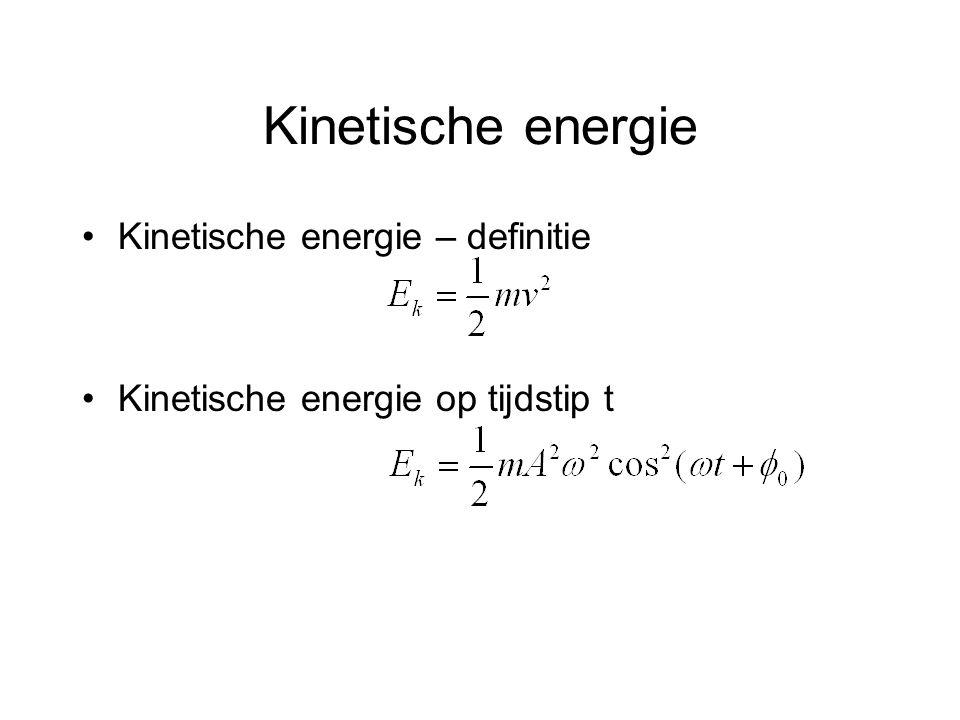 Kinetische energie Kinetische energie – definitie