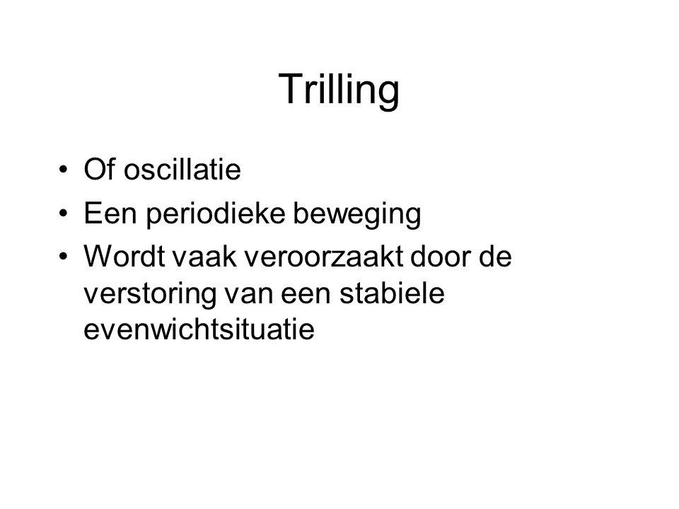 Trilling Of oscillatie Een periodieke beweging