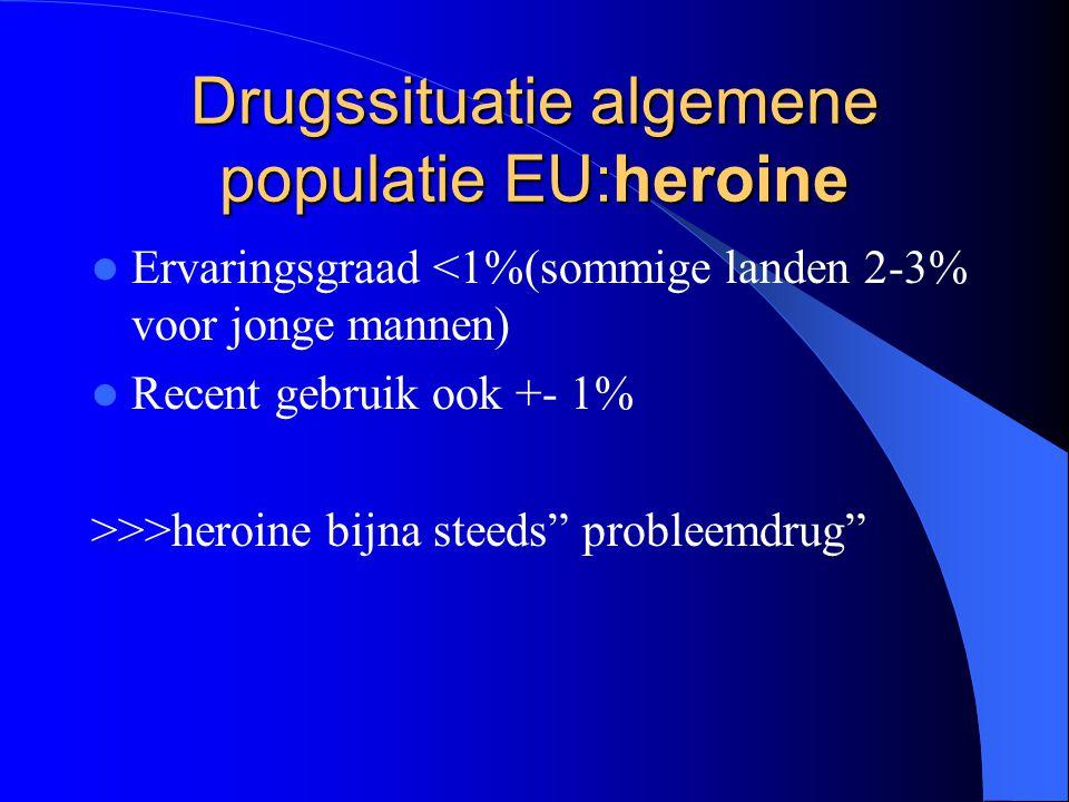 Drugssituatie algemene populatie EU:heroine