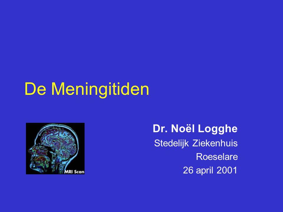 Dr. Noël Logghe Stedelijk Ziekenhuis Roeselare 26 april 2001