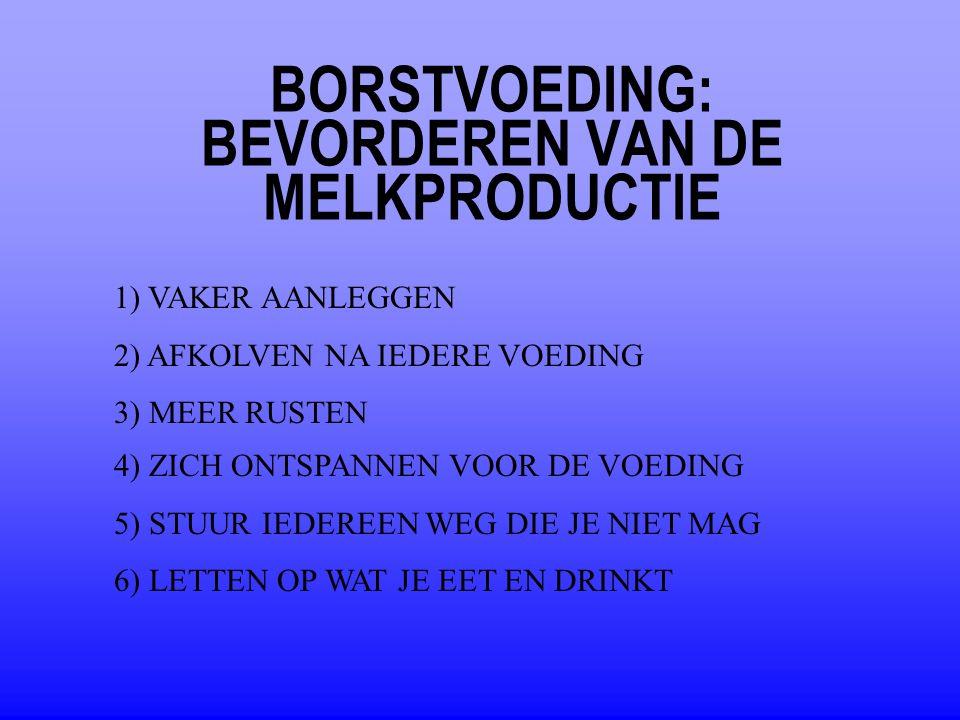 BORSTVOEDING: BEVORDEREN VAN DE MELKPRODUCTIE