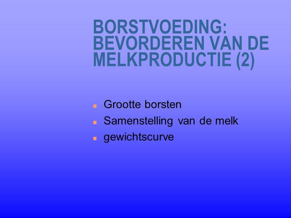 BORSTVOEDING: BEVORDEREN VAN DE MELKPRODUCTIE (2)