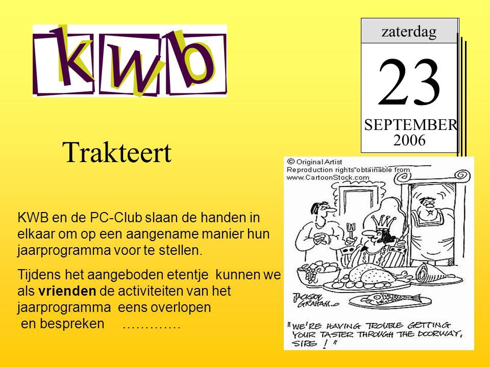 23 Trakteert zaterdag SEPTEMBER 2006