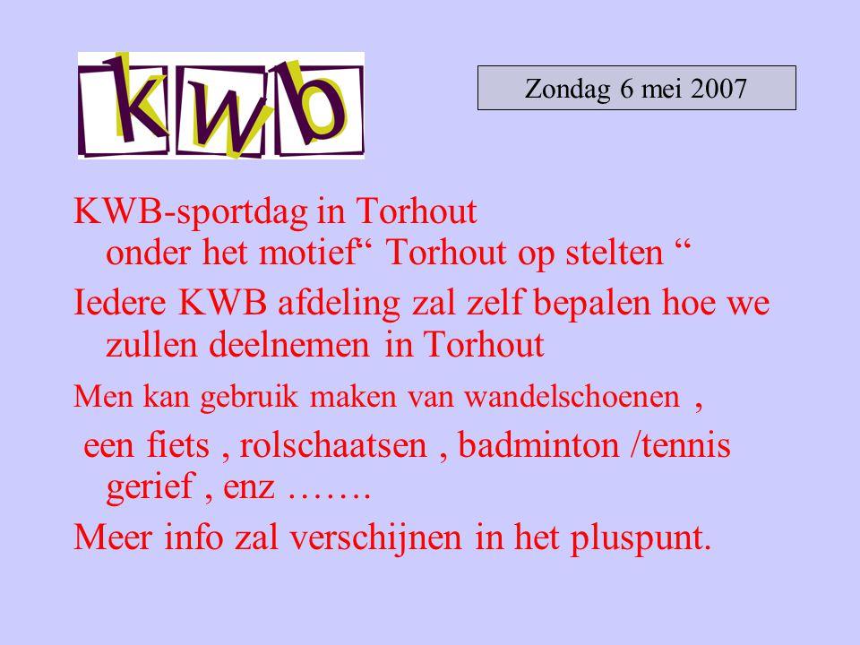 KWB-sportdag in Torhout onder het motief Torhout op stelten