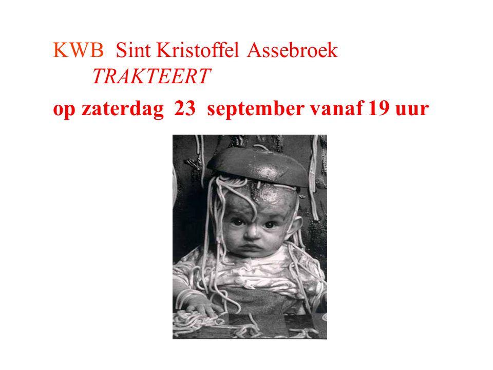 KWB Sint Kristoffel Assebroek TRAKTEERT