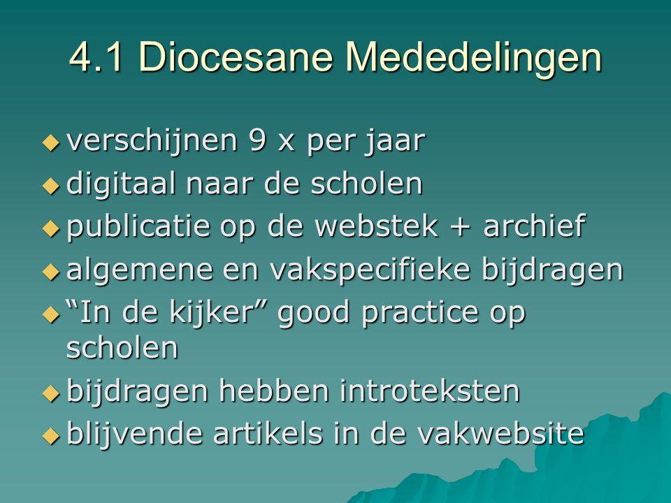 4.1 Diocesane Mededelingen