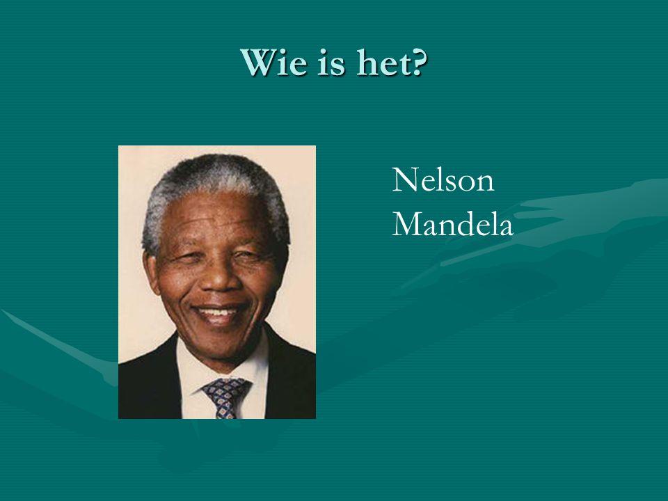 Wie is het Nelson Mandela