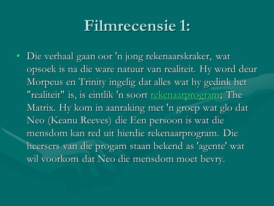 Filmrecensie 1: