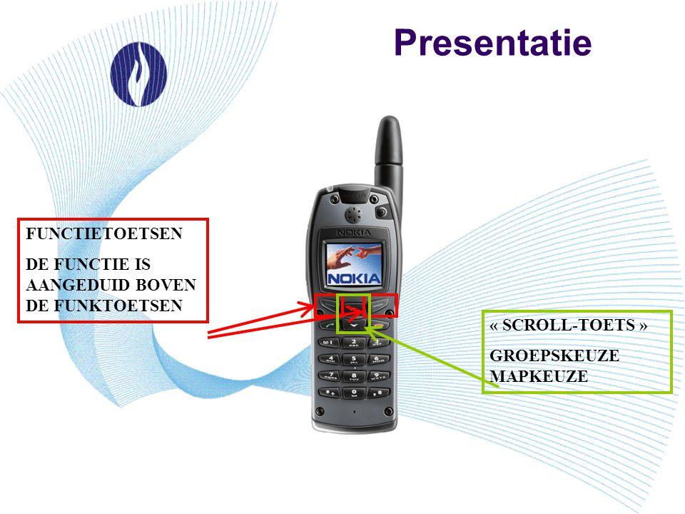 Presentatie FUNCTIETOETSEN