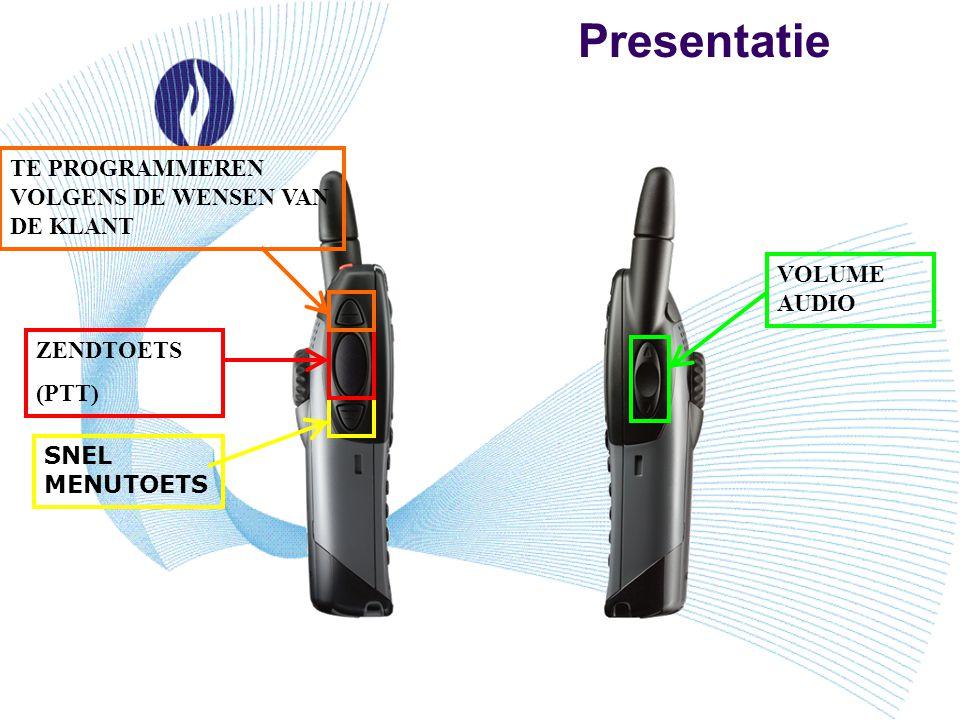 Presentatie TE PROGRAMMEREN VOLGENS DE WENSEN VAN DE KLANT