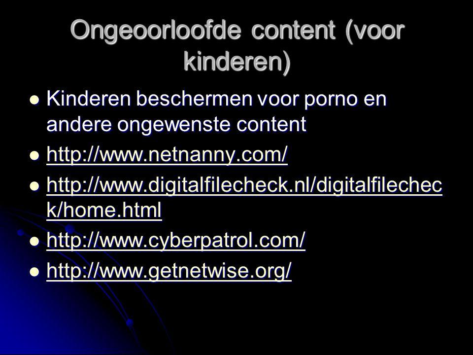 Ongeoorloofde content (voor kinderen)